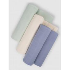 """Набор муслиновых пеленок для новорожденных """"Spring wind"""",  120x120, 3шт,  Firstday, ТУ"""
