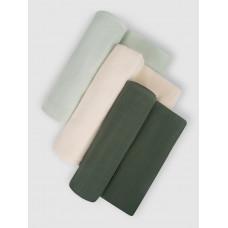 """Набор муслиновых пеленок для новорожденных """"Morning forest"""",  120х120, 3шт,  Firstday, ТУ"""