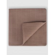 """Муслиновая пеленка для новорожденных """"Chocolate Brown"""", 120x120, Firstday, ТУ"""