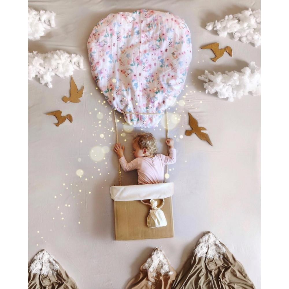 """Муслиновая пеленка для новорожденных """"Little flowers"""", 120x120"""