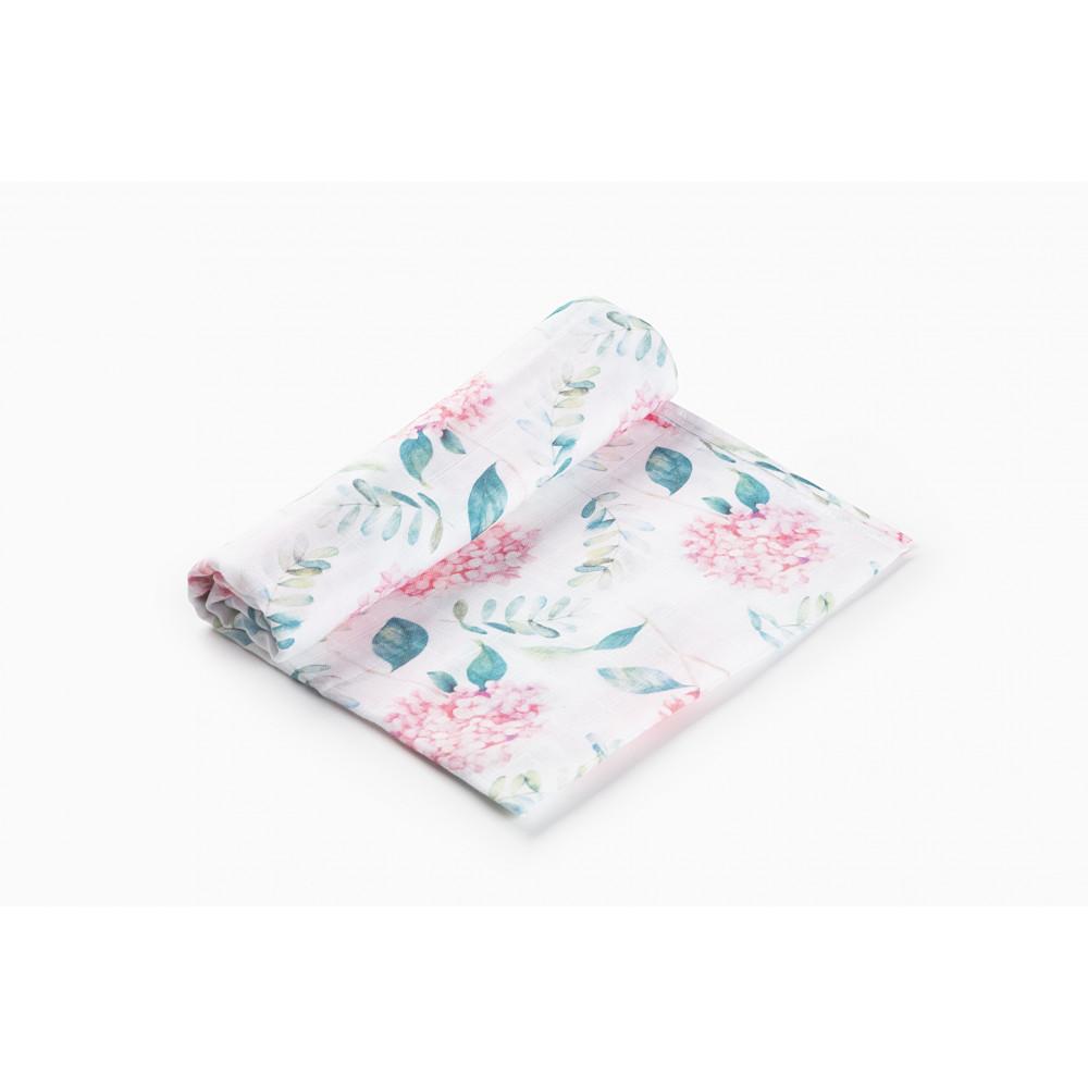 """Муслиновая пеленка для новорожденных """"Hydrangea"""", 120x120, Firstday, ТУ"""