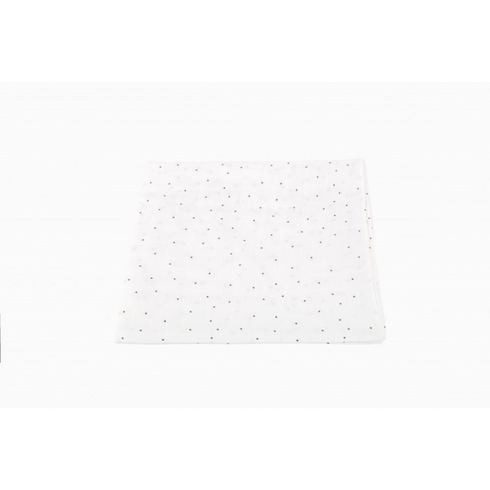 """Муслиновая пеленка для новорожденных """"Горошек"""", 120x120"""