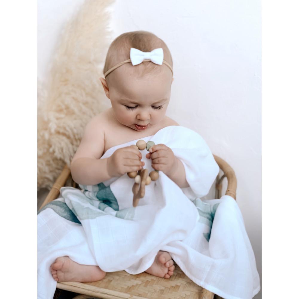 """Муслиновая пеленка для новорожденных """"Hello World Metrics"""", 120x120, Firstday, ТУ"""