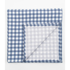 """Муслиновая пеленка для новорожденных """"Клетка синяя"""", 120x120, Firstday"""