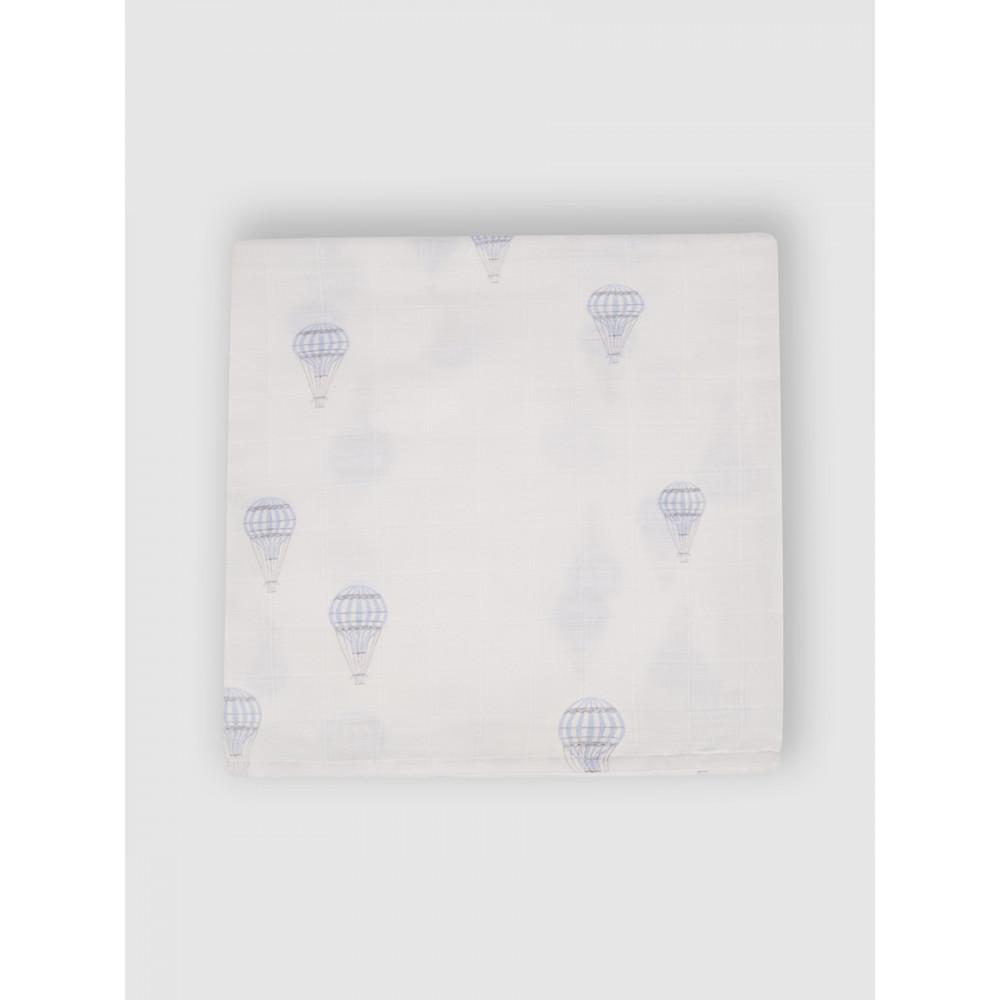 """Муслиновая пеленка для новорожденных """"Воздушные шары"""", 80x80, Firstday, ТУ"""