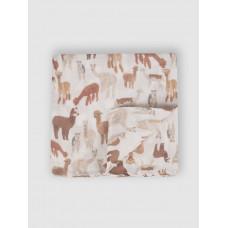 """Муслиновая пеленка для новорожденных """"Альпаки"""", 80x80, Firstday, ТУ"""