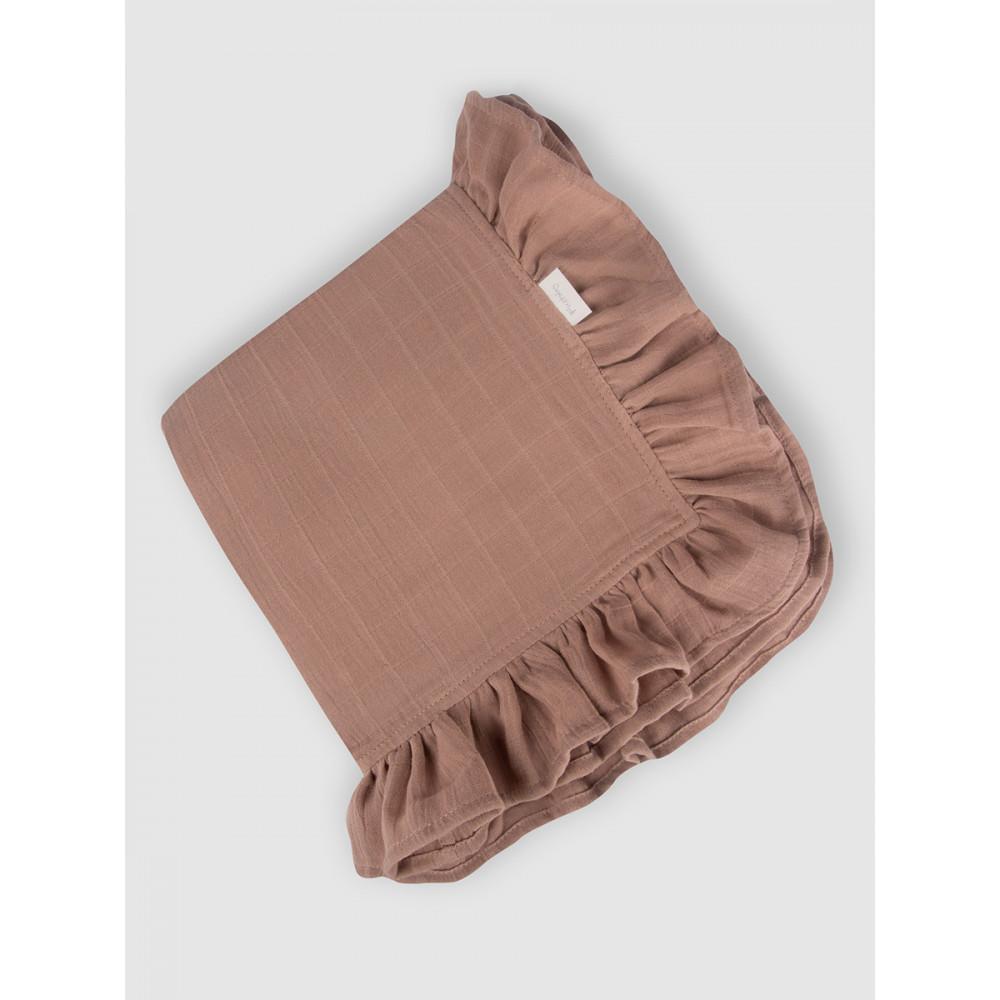 "Муслиновое одеяло ""Dusty Rose"" с рюшами, 100x100, Firstday, ТУ"