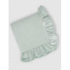 "Муслиновое одеяло ""Frosted Mint"" с рюшами, 100x100, Firstday, ТУ"